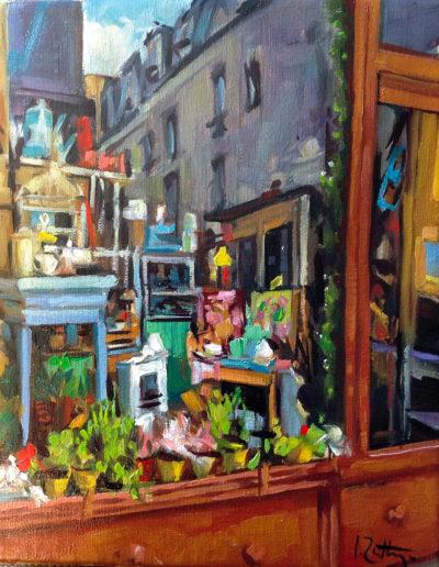 La vitrine du brocanteur