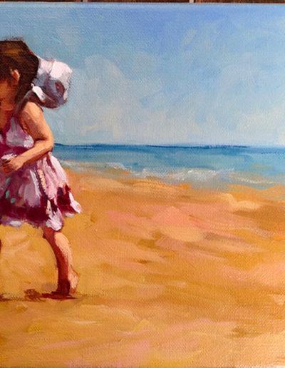 Fillette a la plage