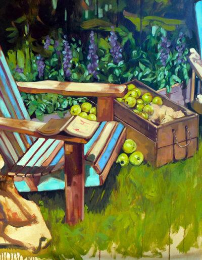 Fauteuils et pommes