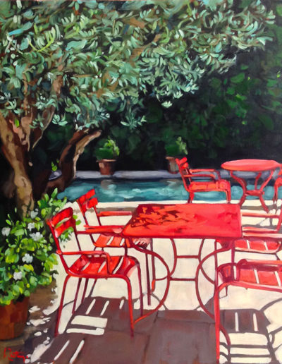 Terrasse rouge