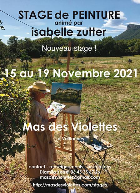 Nouveau stage de peinture : novembre 2021